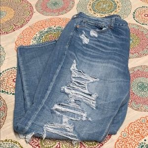 American Eagle Outfitters Tomgirl Ripped Jeans